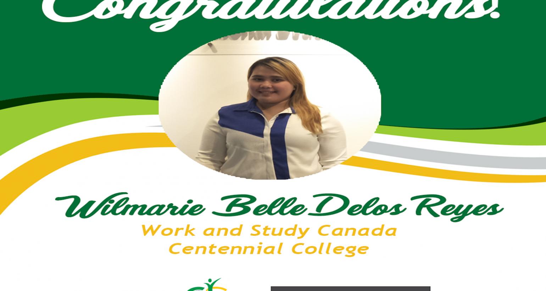 Congrats, Wilmarie Belle delos Reyes!
