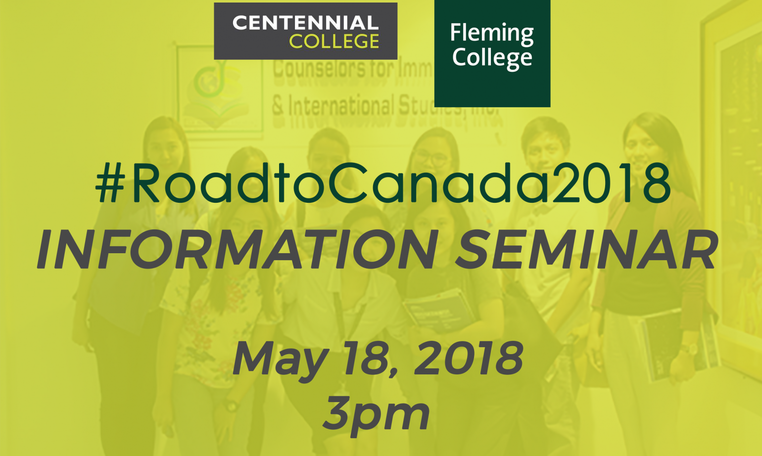 YOU'RE INVITED: Info seminar with Centennial and Fleming College, Canada