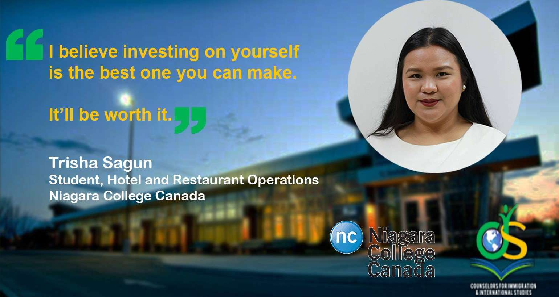 Our students abroad | Trisha Sagun, Niagara College Canada