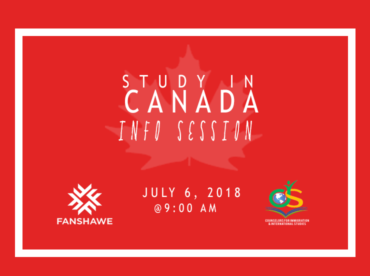 You're invited! Study in Canada – free info session with Fanshawe College!