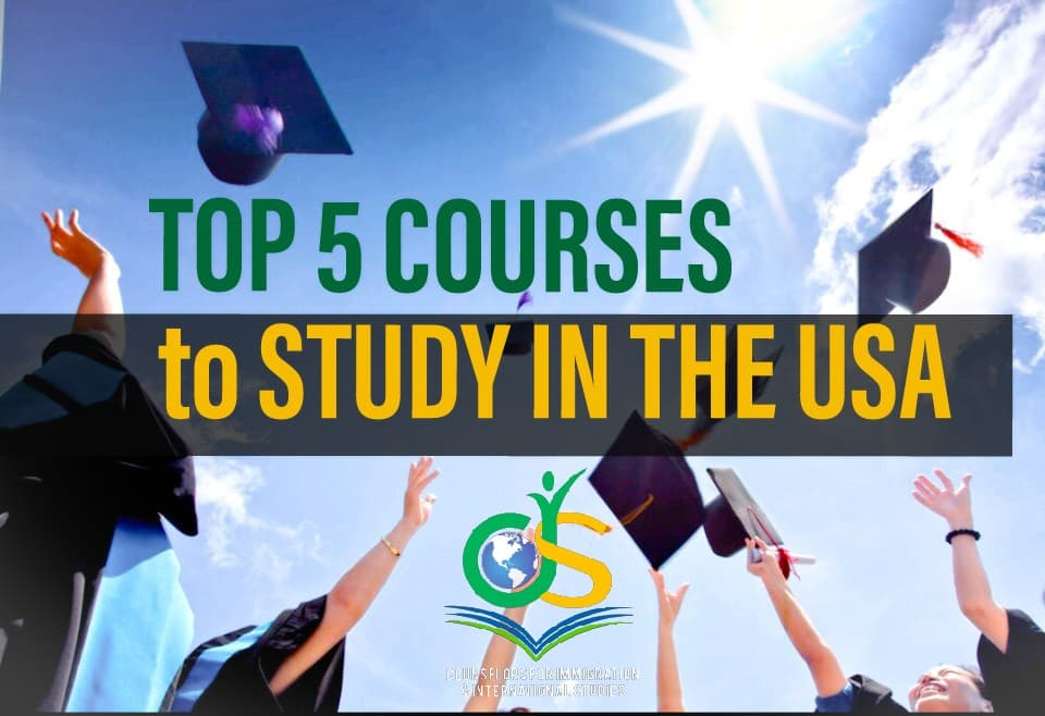 Top 5 courses to study in the USA
